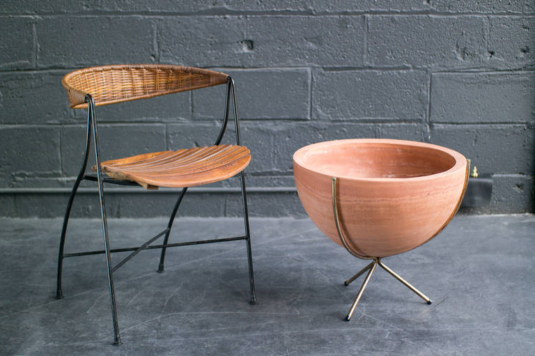 Mid Century Terracotta Planter At 1stdibs