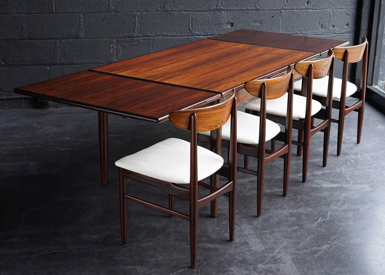 Danish Modern Rosewood Dining Set At 1stdibs
