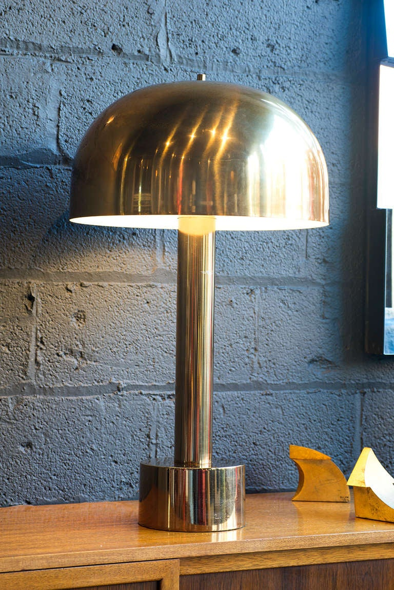 Metal Mushroom Lamp By Laurel At 1stdibs