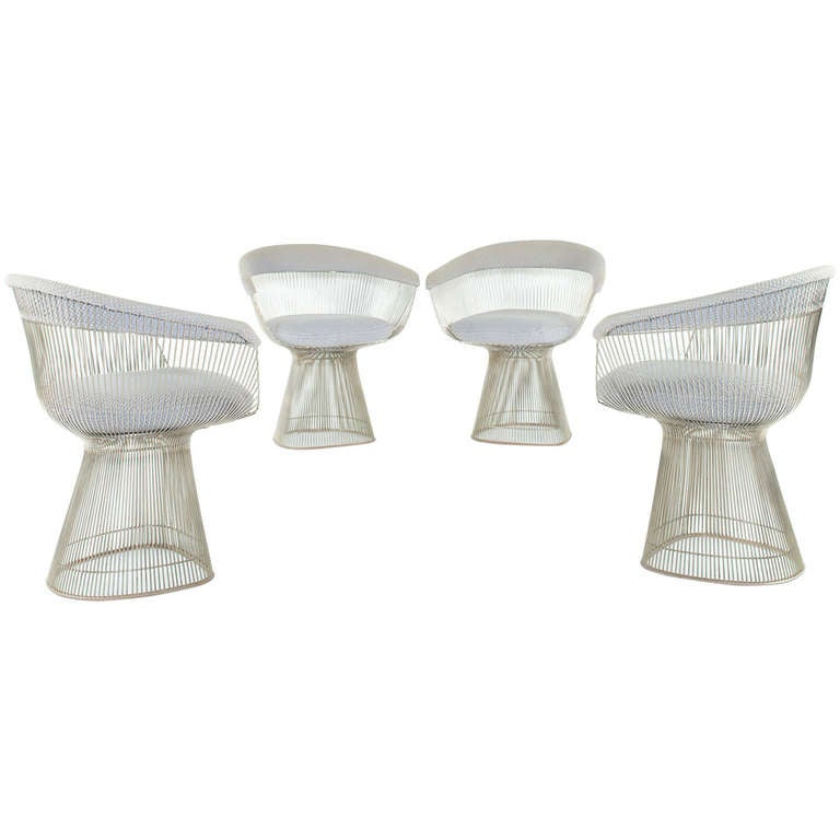 4 Dining Chairs By Warren Platner At 1stdibs
