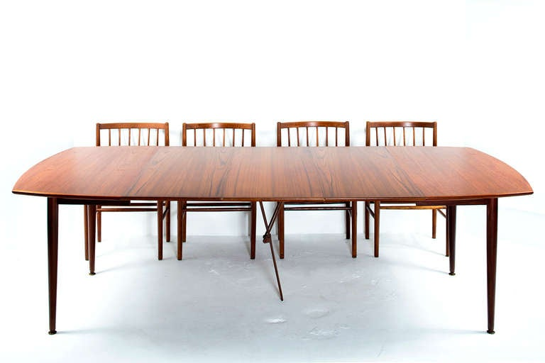 convertible danish dining table at 1stdibs