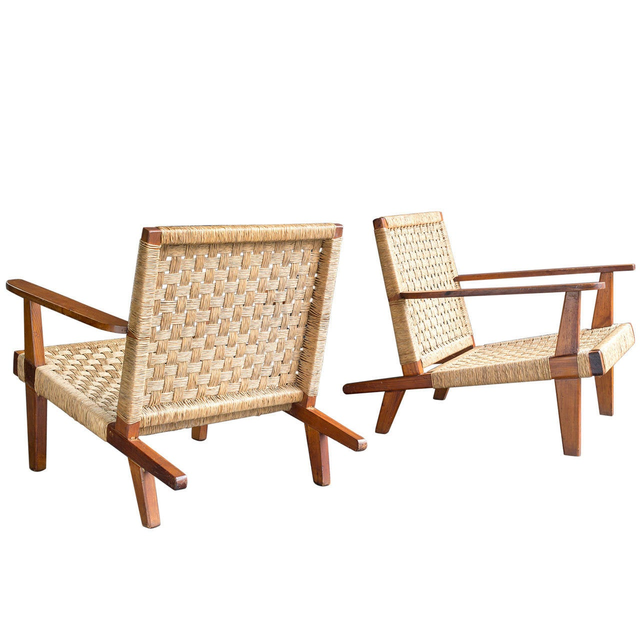 Clara Porset Lounge Chairs For Sale