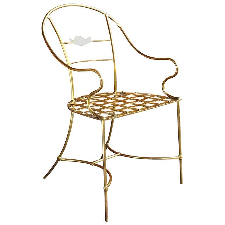 Limited Edition Italian Brass Chair
