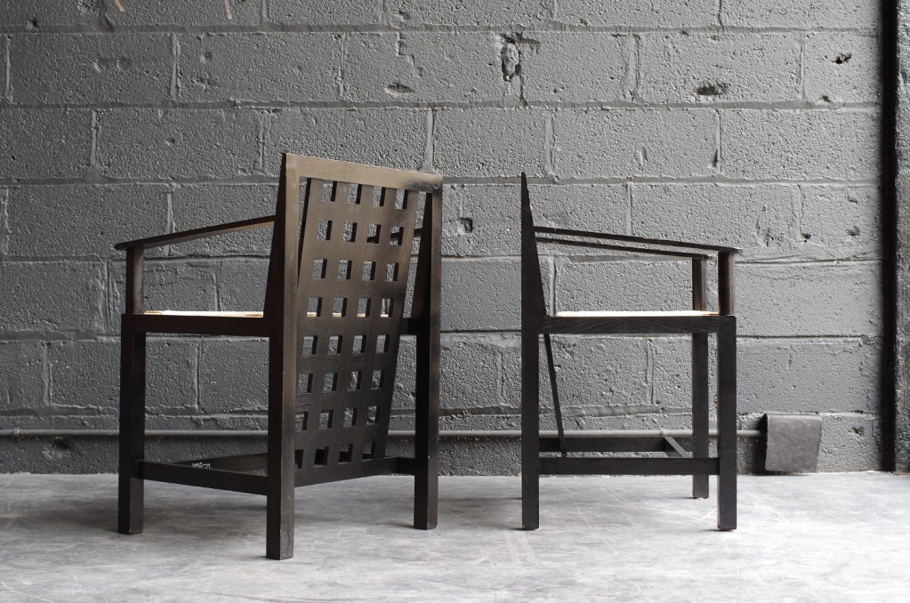 one charles rennie mackintosh ds3 arm chair at 1stdibs. Black Bedroom Furniture Sets. Home Design Ideas