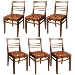Set of Six Rene Gabriel Chairs