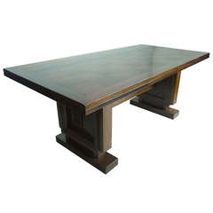 Oak Dining Table by Charles Dudouyt