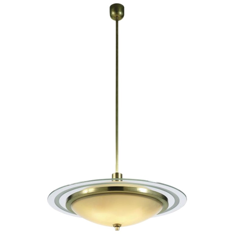 Fontana Arte Chandelier by Pietro Chiesa For Sale