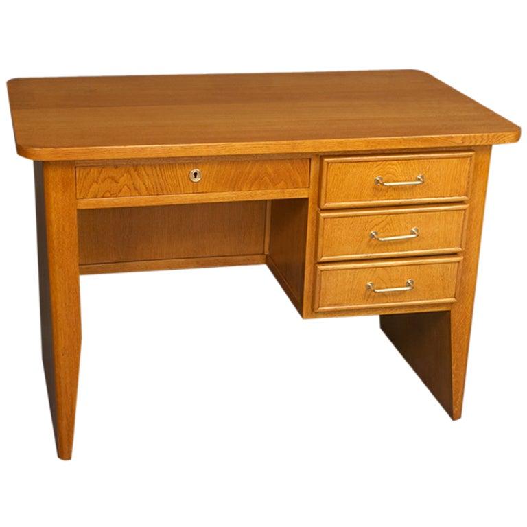 Oak desk by rene gabriel for sale at 1stdibs