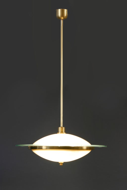 fontana arte chandelier by pietro chiesa for sale at 1stdibs. Black Bedroom Furniture Sets. Home Design Ideas