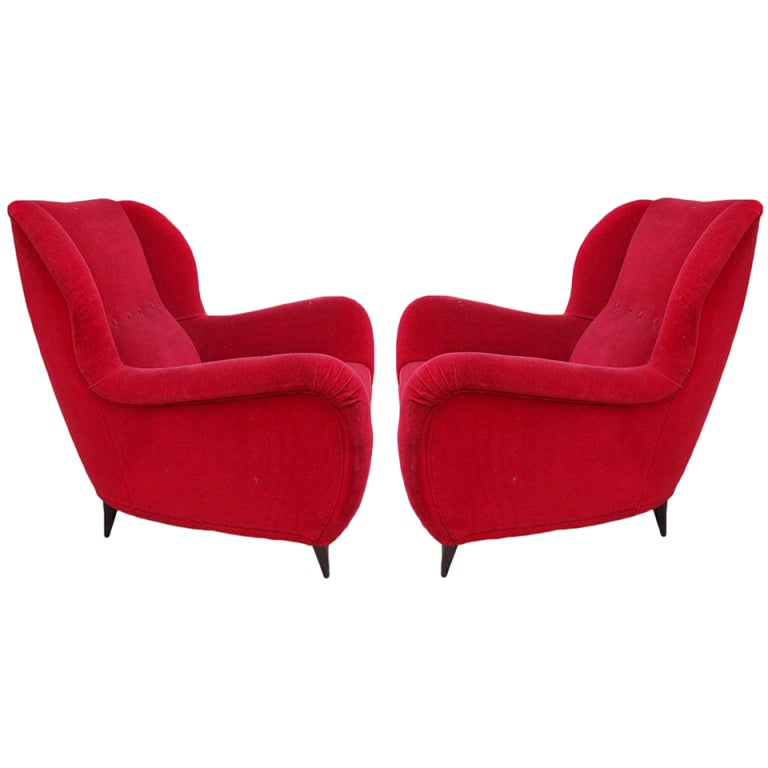 Pair of armchairs design Nino Zoncada 1