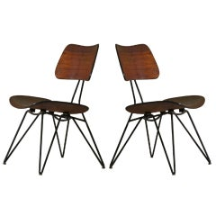 Pair of chairs Design Gio Ponti