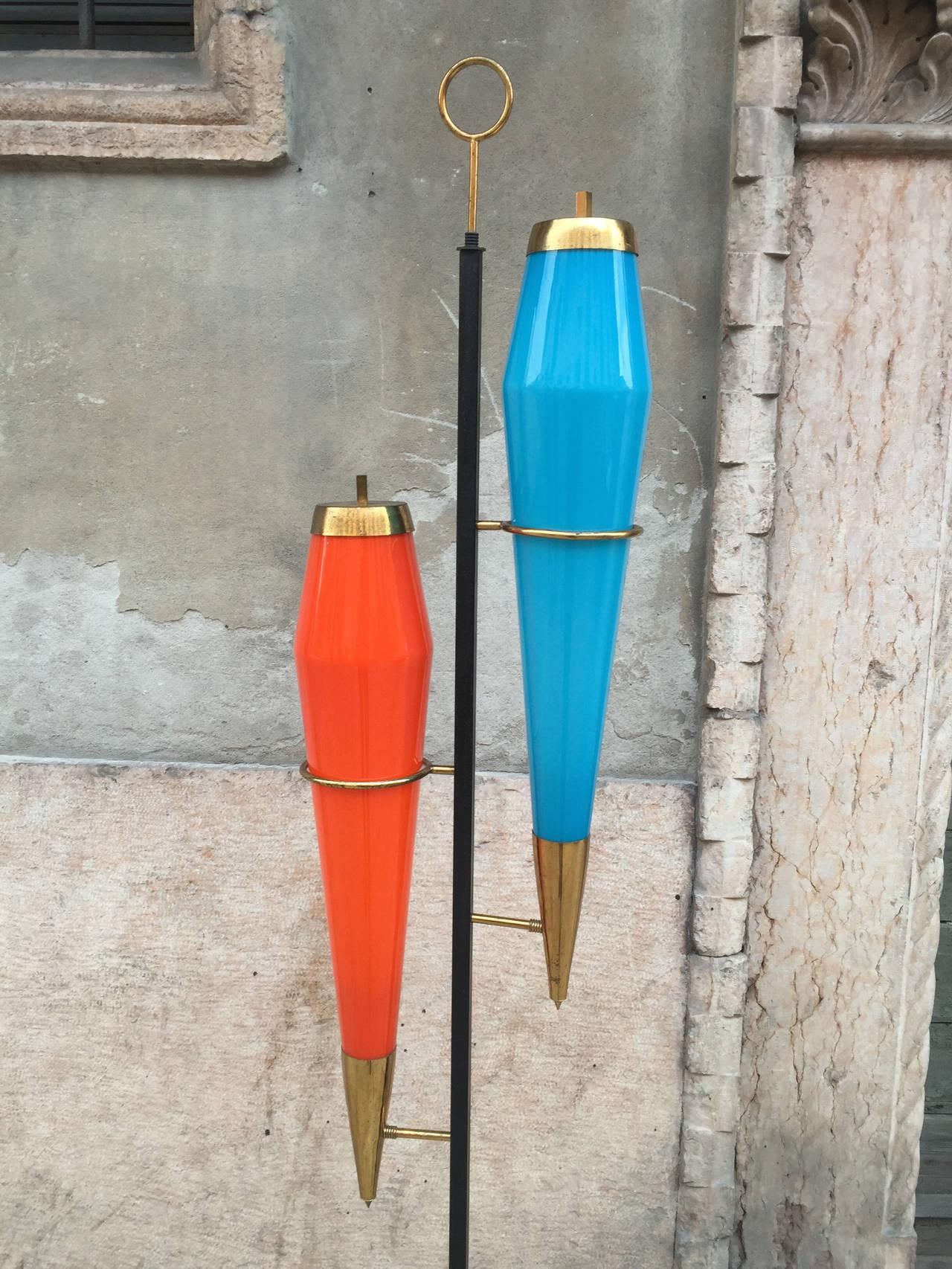 Mid-20th Century Floor Lamp Designed by Vistosi For Sale