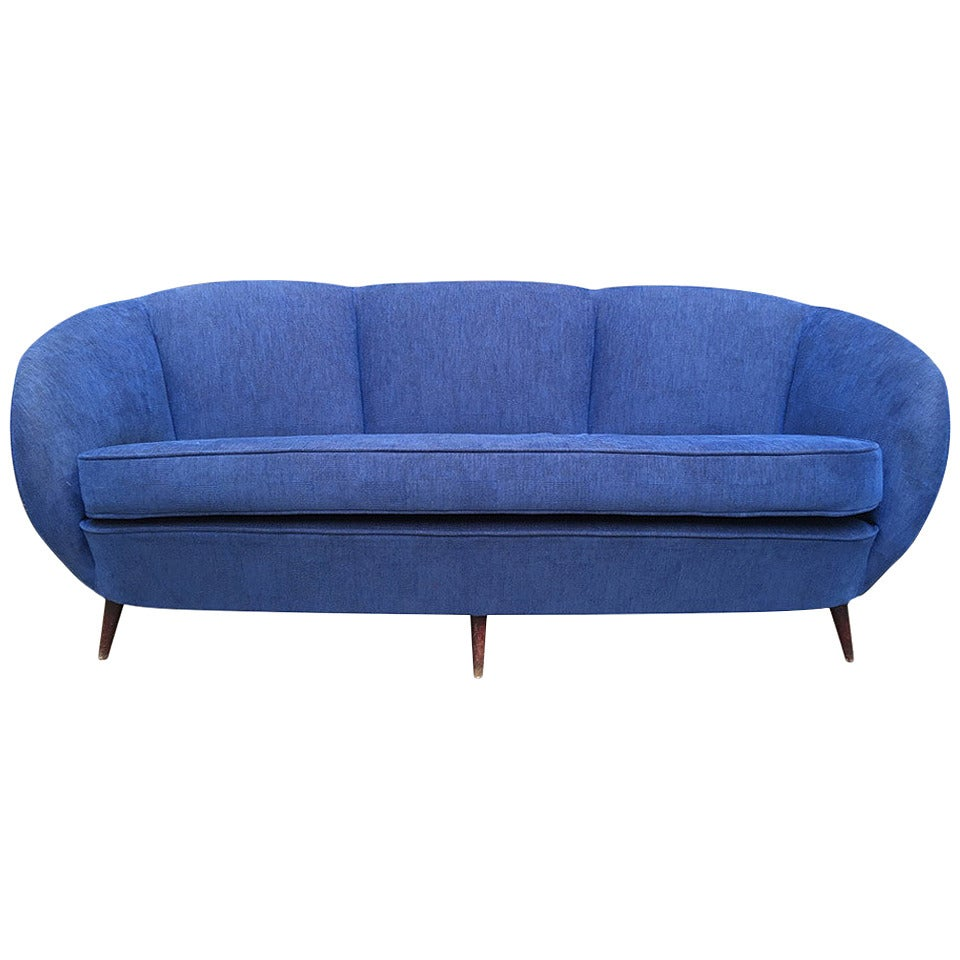 Curved Sofa Italian Design At 1stdibs