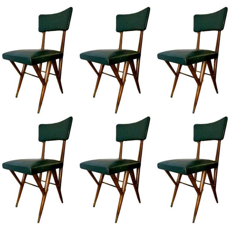 Six sedie design ico parisi at 1stdibs for Sedie design furniture e commerce