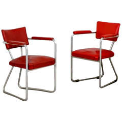 Pair of Office Chairs Designed by Gio Ponti