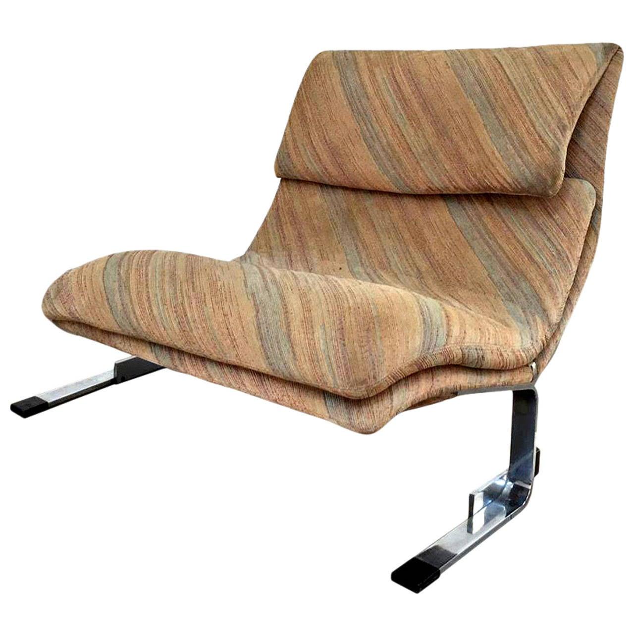"Onda Chair And Ottoman In Missoni Fabric By Giovanni: Three ""Onda (Wave) Lounge Chairs"",Design Saporiti At 1stdibs"