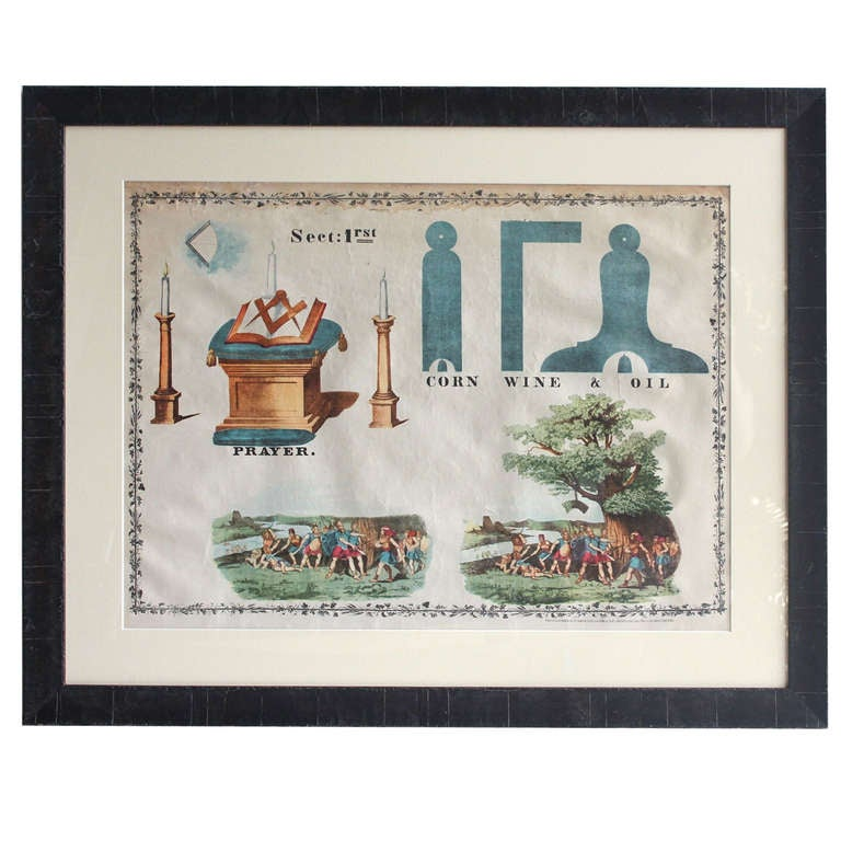 Http 1stdibs Com Furniture Wall Decorations Posters Early Masonic Original Educational Poster Id F 830049