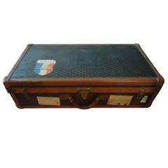 Rare Goyard Monogram Suitcase, circa 1900