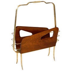 Magazine Holder In The Style Of Gio Ponti