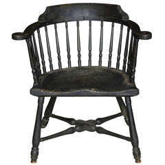 Rare Maple Low-Back Windsor Armchair, Rhode Island, circa 1760