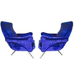 Pair of armchairs, design Gigi Radice 1950