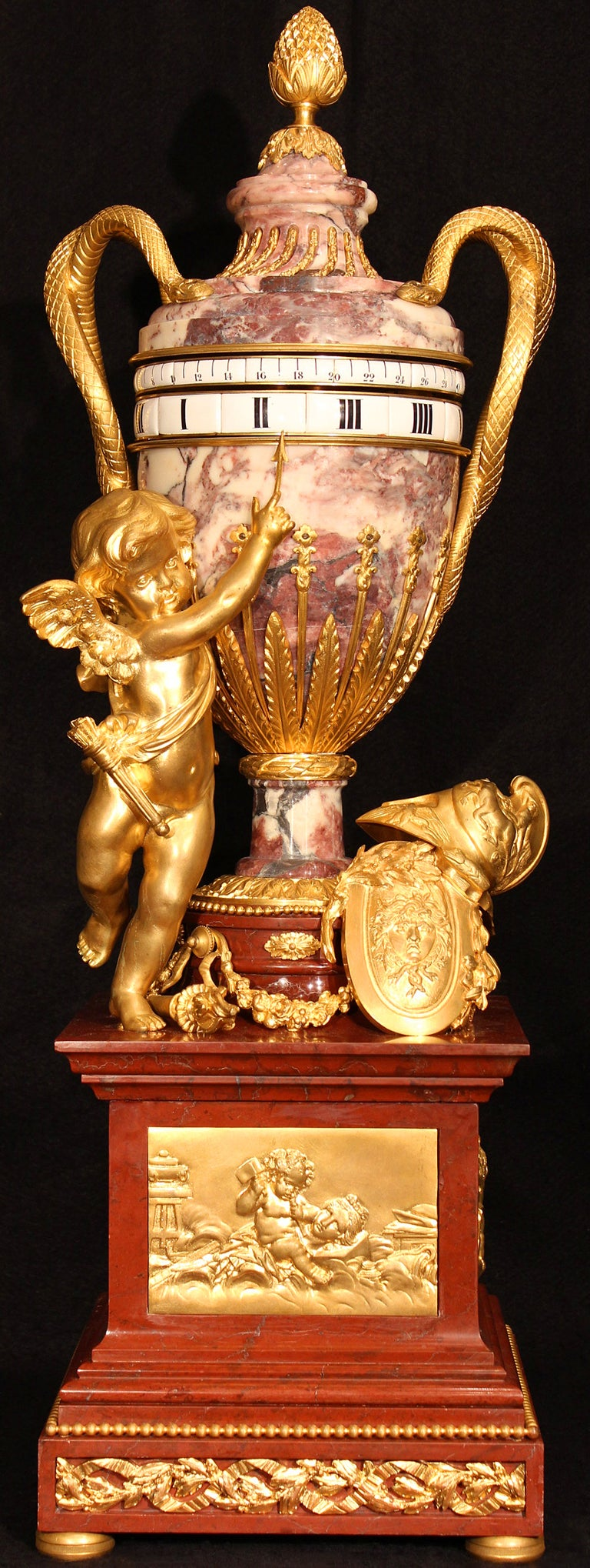 French 19th Century  Louis Xvi St. Marble And Ormolu Annular Clock  For Sale