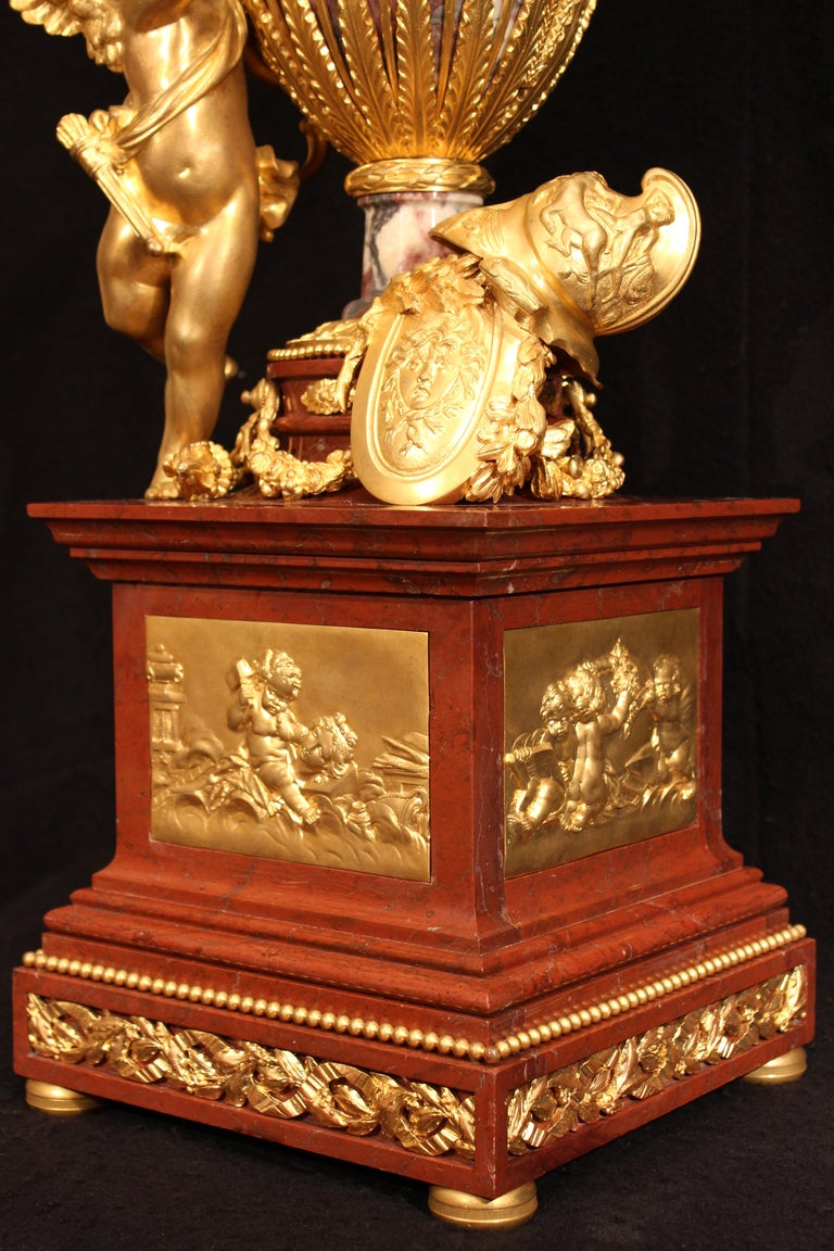 French 19th Century  Louis Xvi St. Marble And Ormolu Annular Clock  For Sale 1