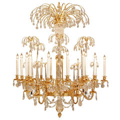 Russian 19th Century Neoclassical Style Crystal And Ormolu