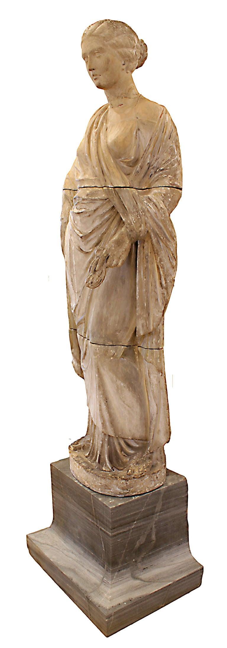 A Monumental Italian 18th Century Terracotta Statue For