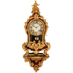 French Early 18th Century Louis XV Period Cartel Clock