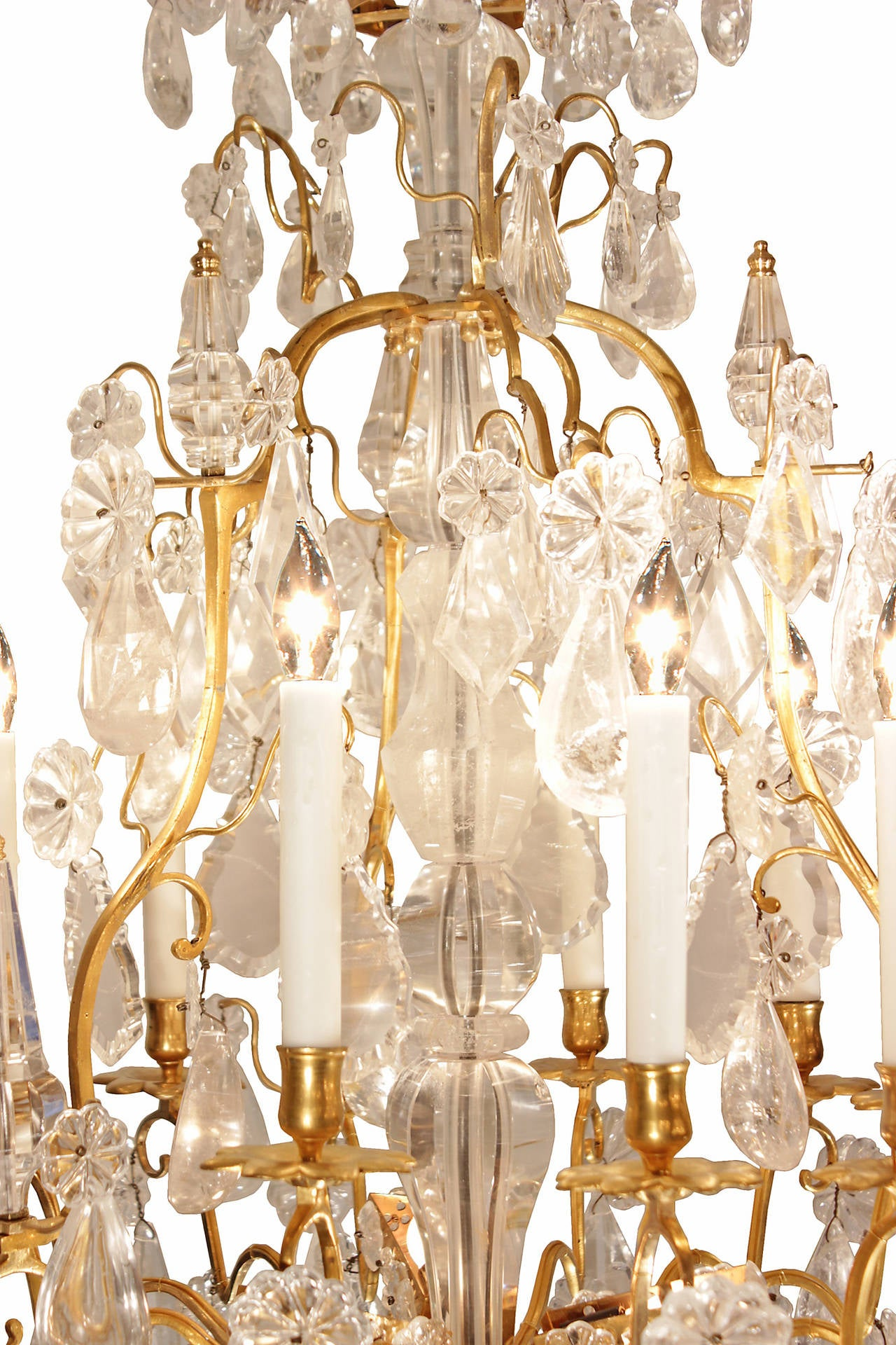 French Mid 18th Century Louis Xv Period Rock Crystal And