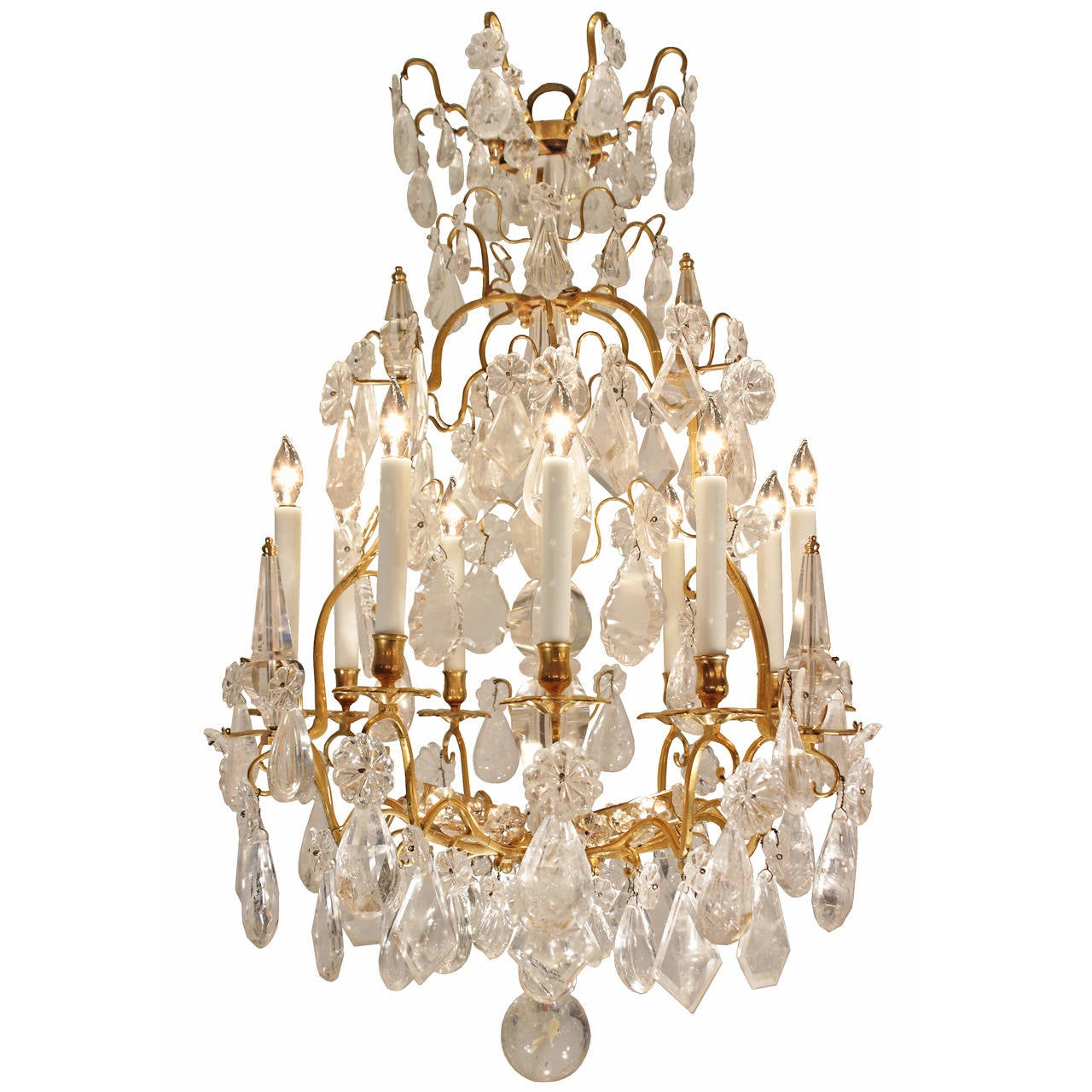 French mid 18th century louis xv period rock crystal and ormolu french mid 18th century louis xv period rock crystal and ormolu chandelier 1 arubaitofo Image collections