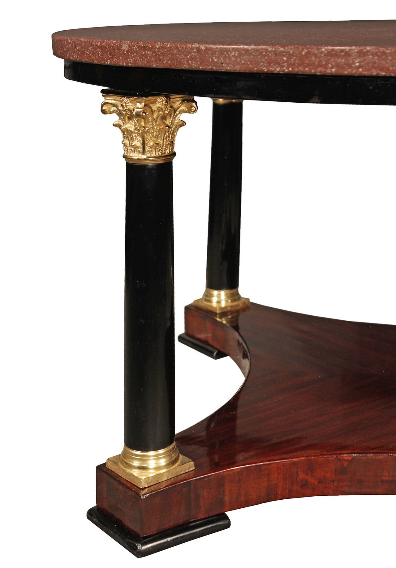19th Century Neoclassical Style Mahogany And Porphyry Coffee Table For Sale At 1stdibs