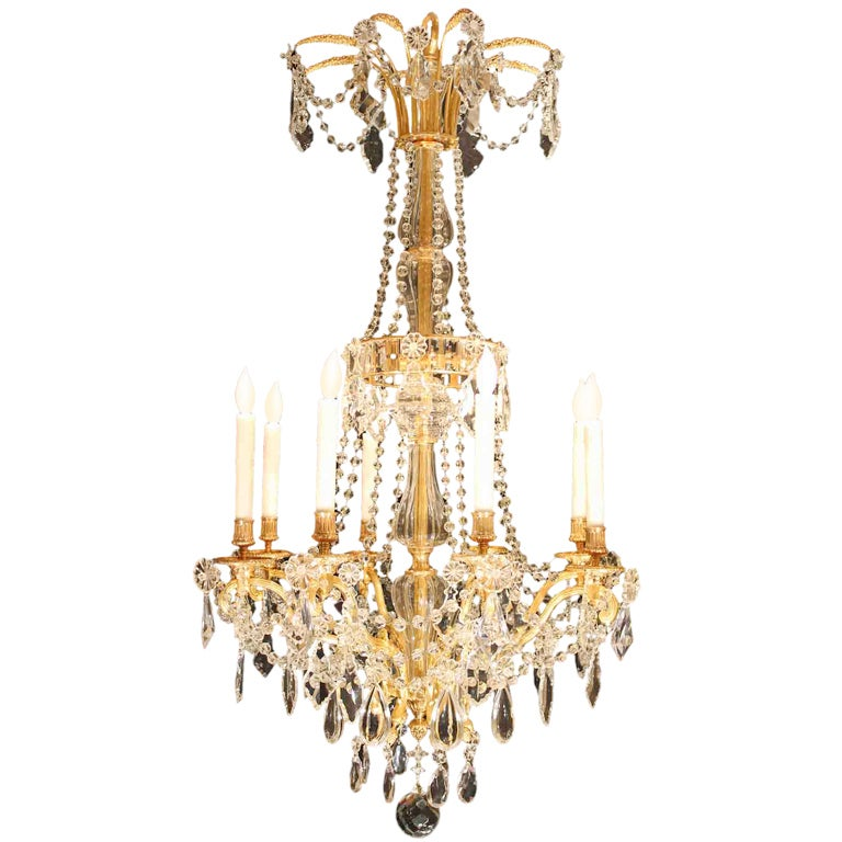 19th Century Louis Xvi Style Baccarat Crystal Chandelier