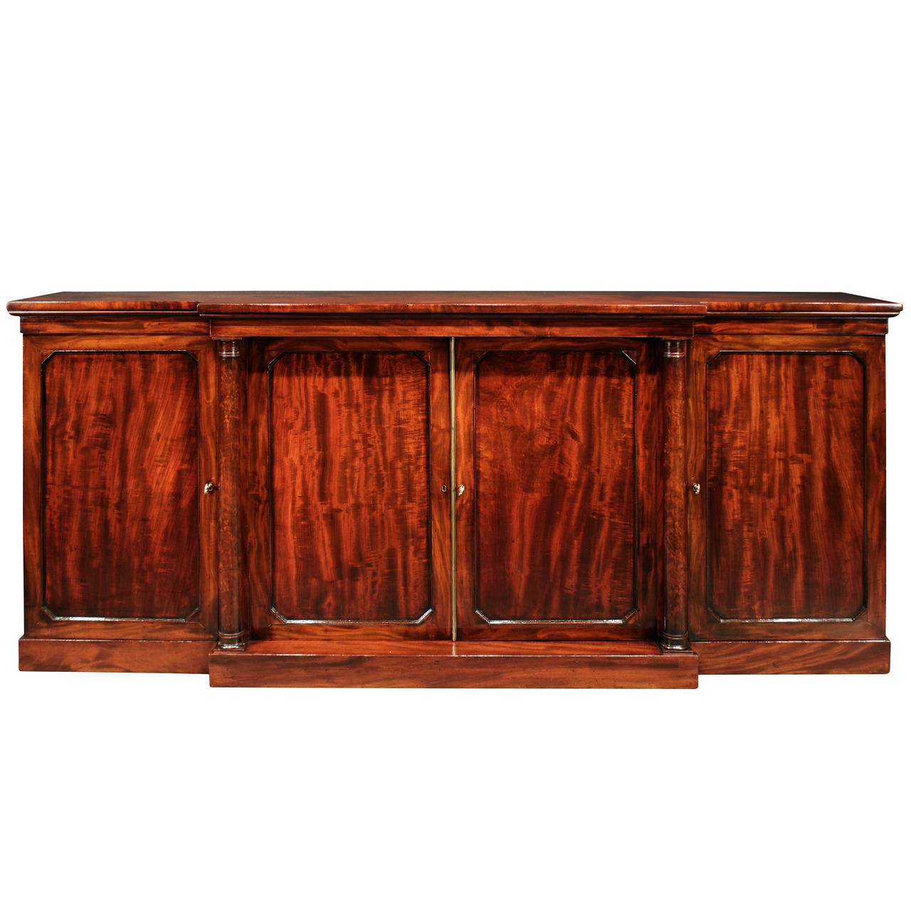 English Early 19th Century Regency Style Flamed Mahogany Sideboard