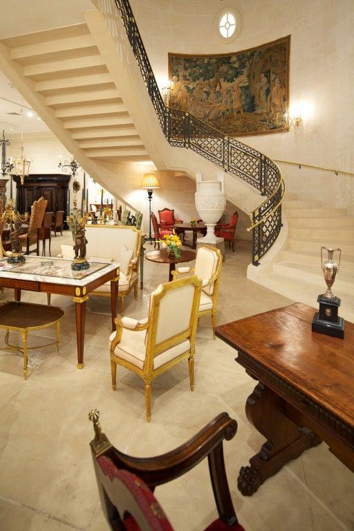 A pair of Italian Louis XVI st. giltwood armchairs 8