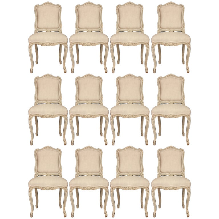 A Set Of Twelve French Louis Xv St Dining Chairs At 1stdibs