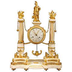 French Early 19th Century  Louis XVI Period Signed Clock