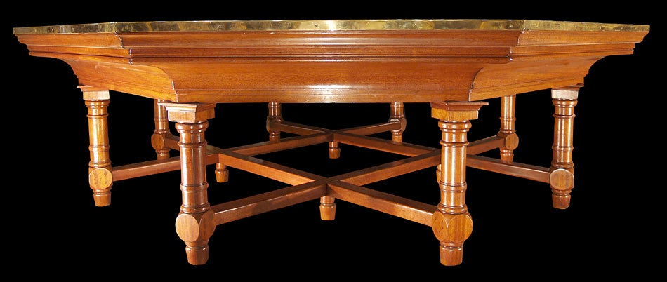 french 19th century louis xiv st octagonal dining center table image