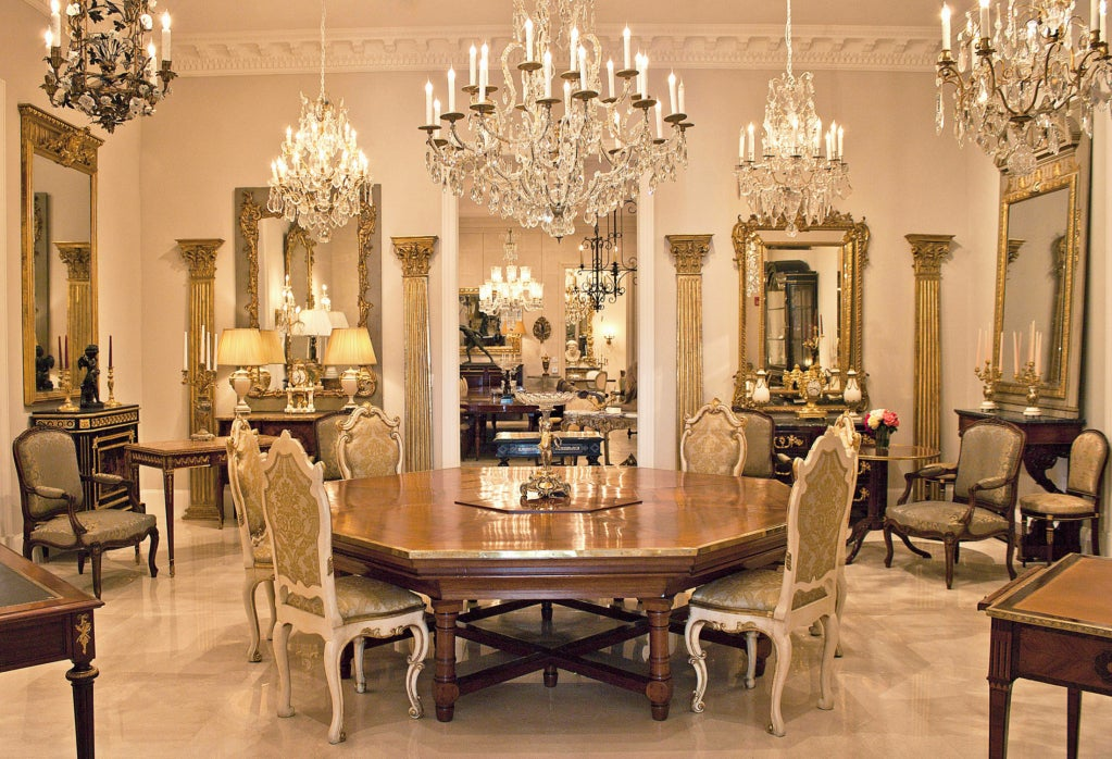 French 19th Century Louis Xiv St Octagonal Dining Center Table At 1stdibs