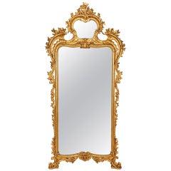 Italian  18th Century Neapolitan Giltwood Mirror