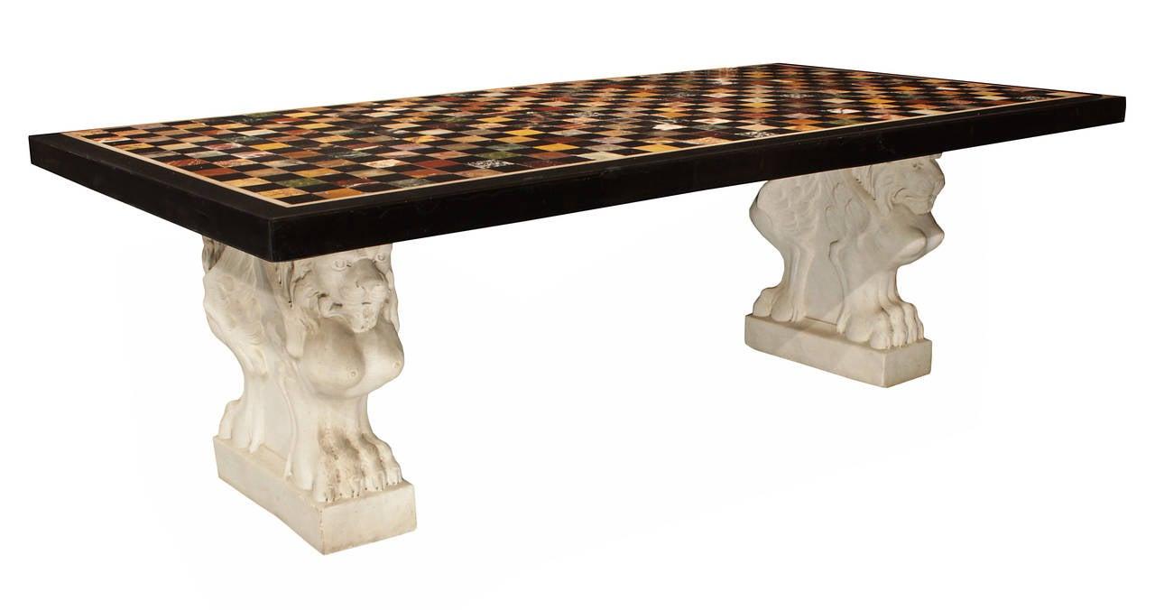 Italian 18th Century Marble Specimen Coffee Table