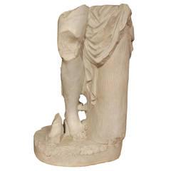 19th Century Italian White Carrara Marble Statue