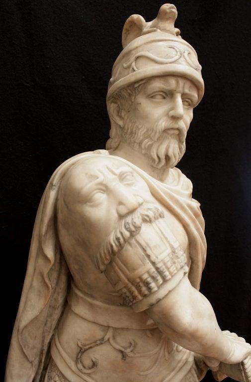 Italian 18th Century White Carrara Marble Statue For Sale