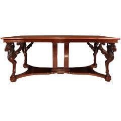 Italian 19th Century Solid Mahogany Center Table