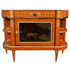French Early 19th Century Louis XVI St. Tulipwood And Ormolu Cabinet