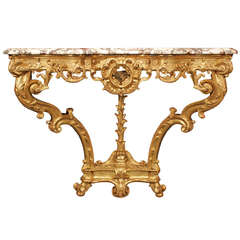 Spectacular French Early 19th Century Regence Style Giltwood Console