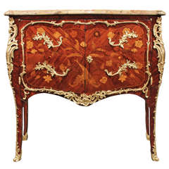 """French 18th Century Louis XV Period Two Door Kingwood Commode Stamped """"JME"""""""