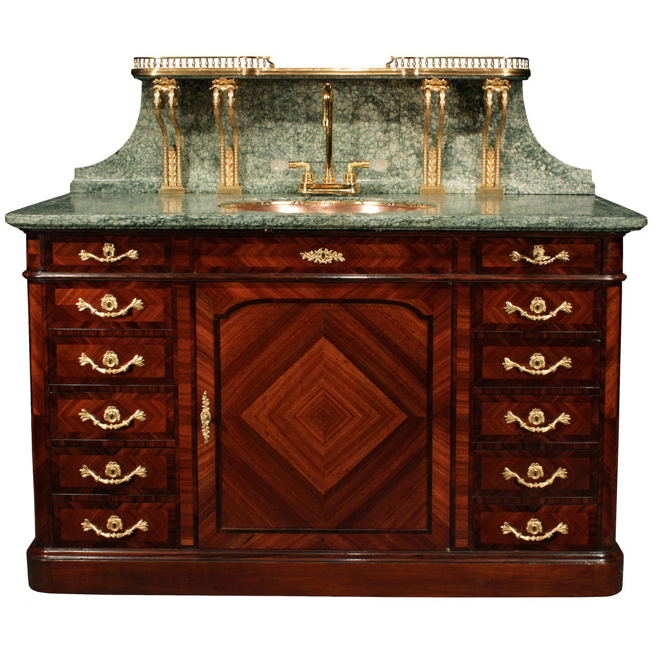 French 19th Century Louis XVI Style Kingwood And Marble