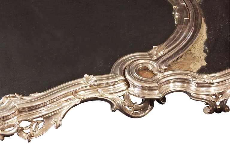 French Silvered Centerpiece, Surtout de Table, stamped Bointaburet a Paris 7